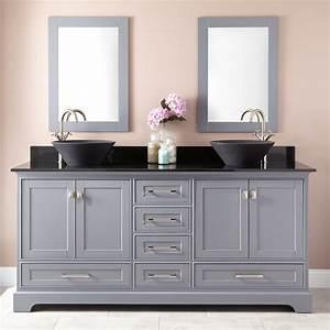 72, U0026quot, Quen, Double, Vessel, Sink, Vanity, -, Gray, -, Double, Sink, Vanities, -, Bathroom, Vanities