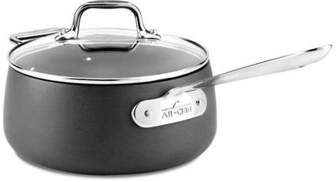 clad hard anodized nonstick  quart saucepan cookware sets nonstick cookware  clad