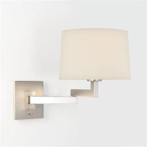astro lighting momo swing arm wall light in matt nickel finish with white or black shade 1162003