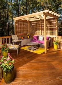 Holz Für Pergola : balkon terrasse scihtschutz ideen holz pergola spalieren sitzecke pergola eingangsbereich ~ Sanjose-hotels-ca.com Haus und Dekorationen