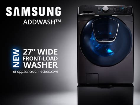 Wide Front Load Samsung Washer with AddWash?   Appliances