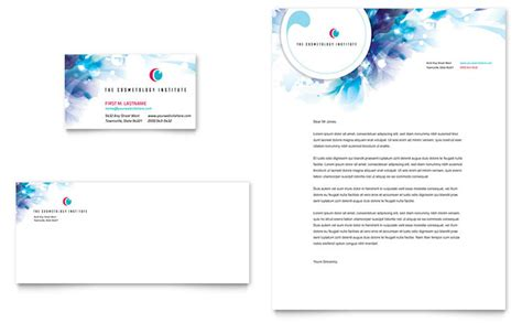 cosmetology business card letterhead template design