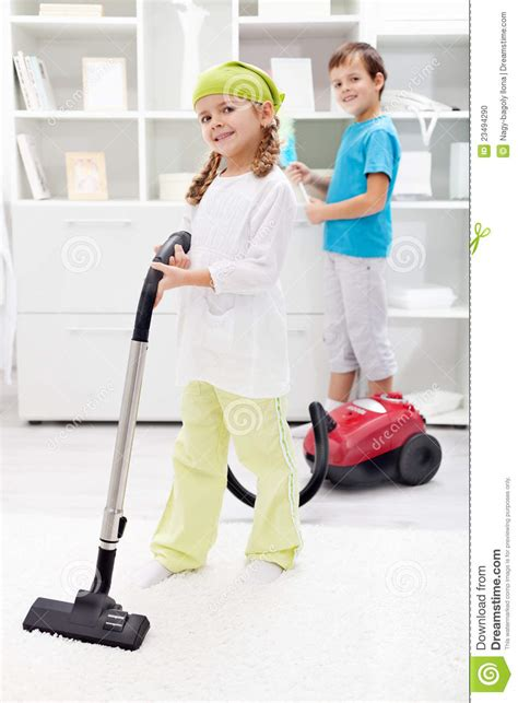 Kids Cleaning The Room Stock Photo  Image 23494290