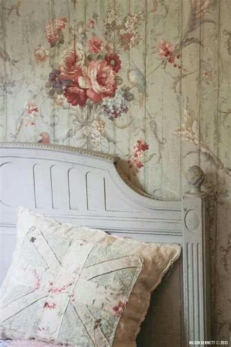 shabby chic photo wall vintage french wallpaper shabby chic pinterest