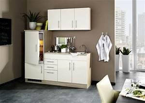 Kühlschrank Mit Eiswürfelbereiter 70 Cm Breit : hochglanz creme singlek che 180 cm mit k hlschrank ~ Markanthonyermac.com Haus und Dekorationen