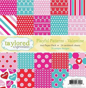 Taylored Expressions Playful Patterns Valentine 6x6 Inch ...