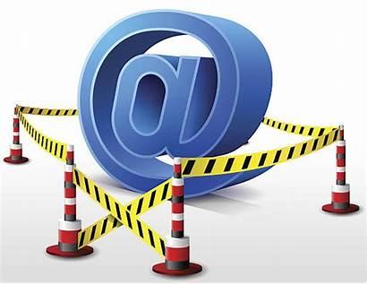 Restricted Area Email Quarantine Symbol Vector Clip