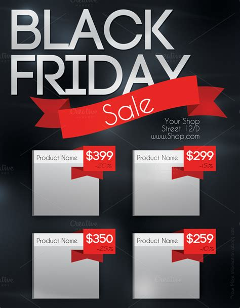Black Frigay Template by Black Friday Sale Flyer Flyer Templates On Creative Market