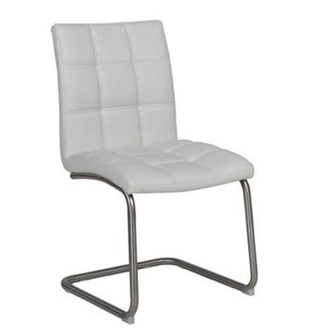 chaise de cuisine en cuir blanc chaise cuir blanc meuble de salon contemporain