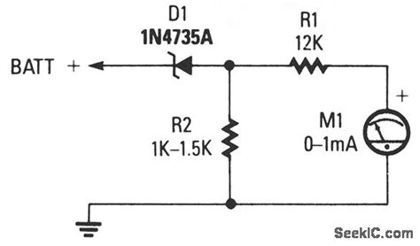 Expanded Scale Analog Meter Measuring Test Circuit
