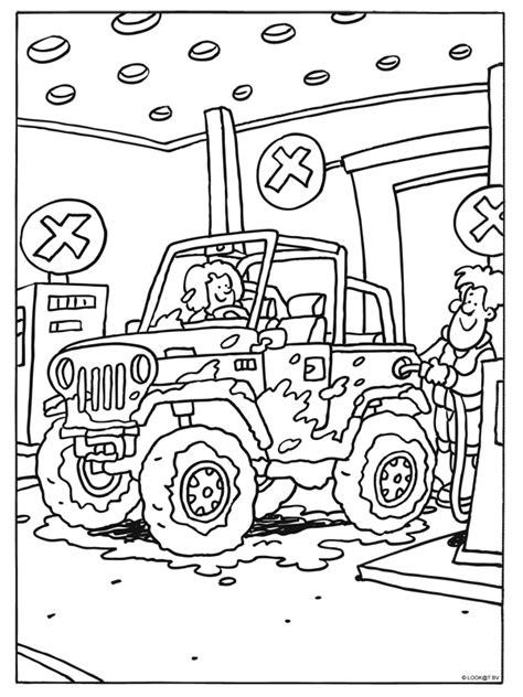 Kleurplaat Tankstation by Kleurplaat Jeep Staat Bij Het Tankstation Kleurplaten Nl