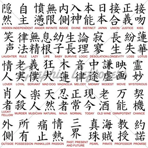 japanese kanji tattoo symbols  meanings chinese