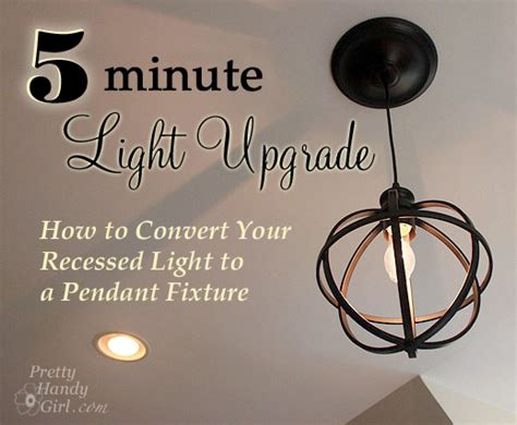 5 minute light upgrade converting a recessed light to a