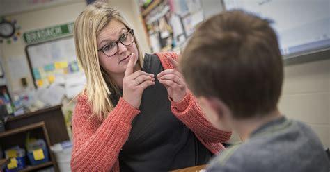 teaching major  exceptional  hearing impaireddeaf