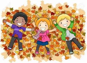 Children In Fall Clipart - ClipartXtras
