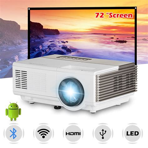 Mini Bluetooth Android WiFi LED Projector Home Theater