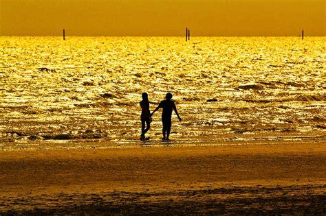photo gold sea black shadow  image