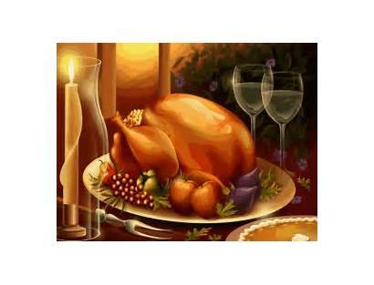 Thanksgiving Dinner Happy Thank Turkey Animated Gifs