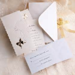 fancy wedding invitations ivory butterfly deco tri fold affordable wedding invitation kits ewri010 as