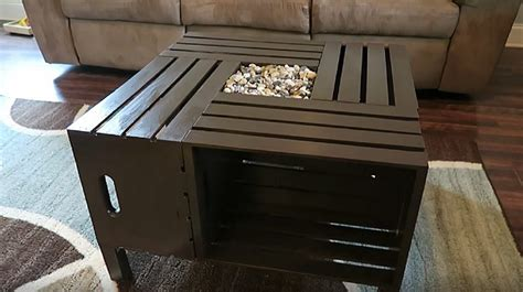 rustic wine crate coffee table  upcycling project
