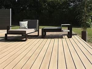 parquet exterieur en bois composite terrasse emotion lisse With parquet composite terrasse