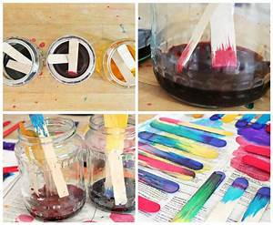 science idea dip dyed craft sticks project babble