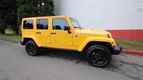yellow jeep wrangler unlimited 2015 jeep wrangler unlimited sahara baja yellow
