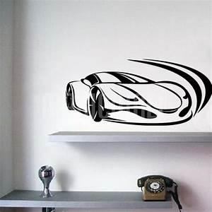 wall decals racing car ferrari wall stickers With car wall decals
