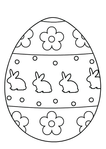 printable easter egg coloring pages  getcoloringscom