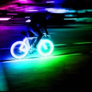 Neon glowing bicycle tires Epicness