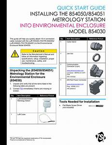 Installing The 854050 854051 Metrology Station Into