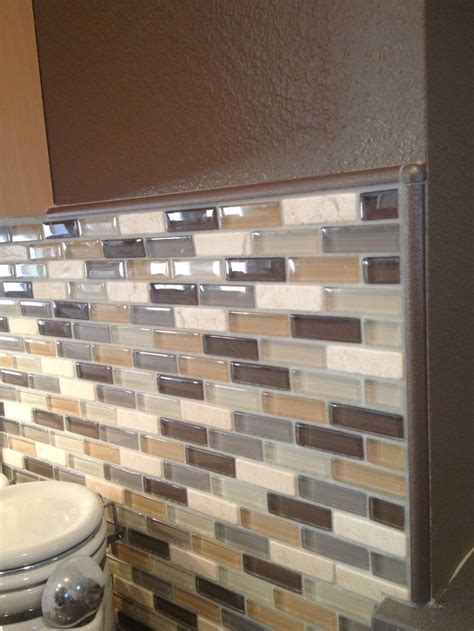 Backsplash Glass Tile Edging by 8 Best Images About Splash On Stainless Steel