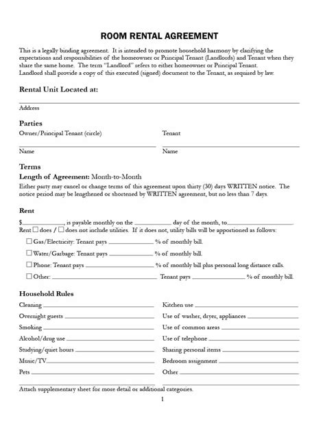 tenant house rules sample