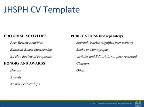 Listing Publications And Presentations On Resume by Resumes And Cvs For Mph Students Fall 2010