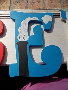 thomas the train custom painted wooden letters With thomas the train letters
