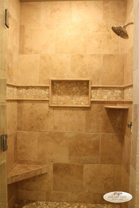 Travertine Bathroom Ideas by Beige Tumbled Travertine Tile Master Bathroom Visit Us On