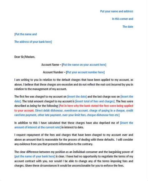 complaint letter to the bank template complaint letters in pdf free premium templates
