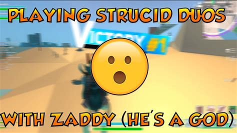 strucid battle royale duos  zaddy roblox youtube