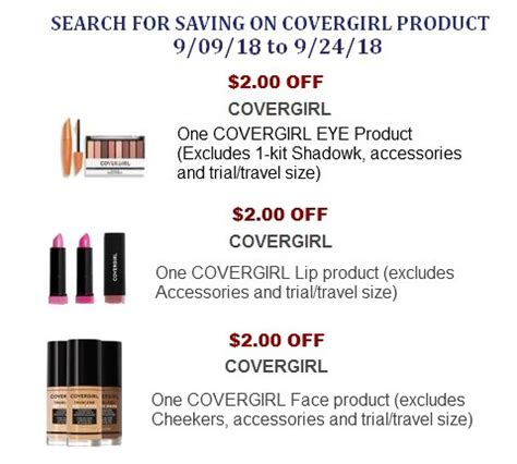 covergirl printable coupons covergirl coupons printable network 21215 | Covergirl Coupons 3