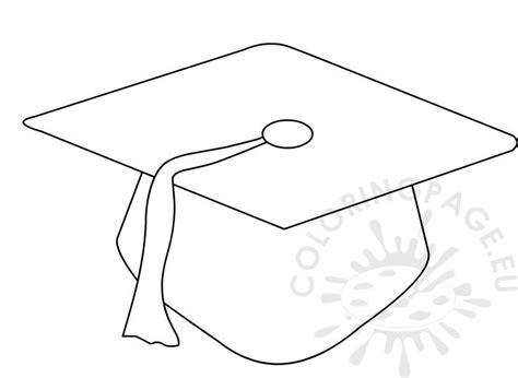 preschool graduation cap pattern coloring page