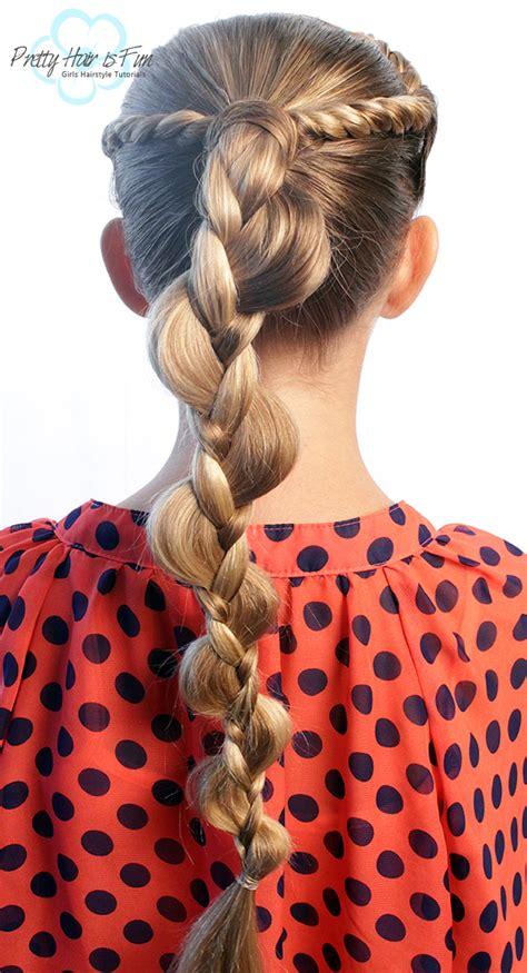 pretty hair  fun french rope twist braid uneven braid