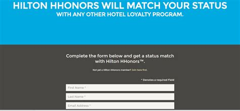 hilton hhonors status match now valid until march 2019