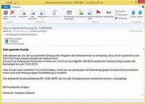 Klarna Rechnung In Ratenkauf Umwandeln : klarna bank rechnung nr 93481868 von klarna inc info bringt einen online banking ~ Themetempest.com Abrechnung