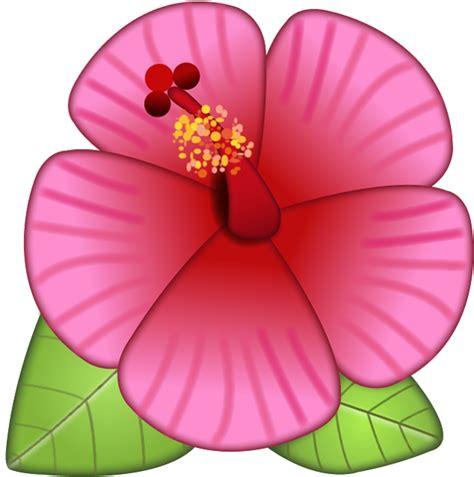 Download Hibiscus Flower Emoji Image In Png  Emoji Island