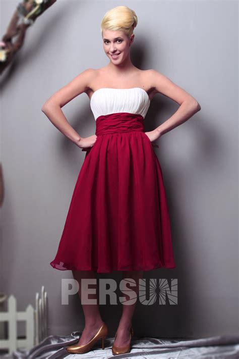 robe bustier blanche courte mariage robe blanche courte bustier pour demoiselles