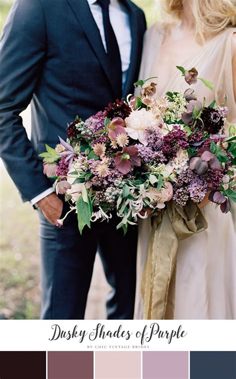 stunning autumn wedding colour palettes purple fall