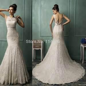 beautiful lace wedding dresses aliexpress buy vintage charming v neck backless plus size wedding dresses lace sweep