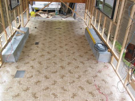 linoleum flooring do not perimeter bond rebuild travel trailer