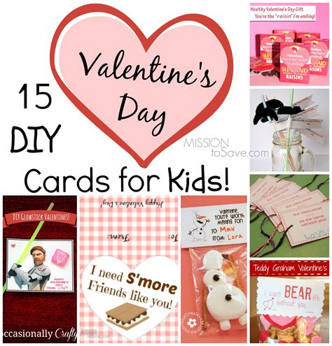 15 Diy Valentine Day Cards For Kids  Mission To Save