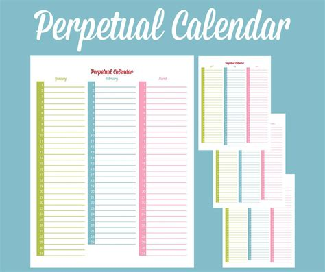 free calendar templates perpetual calendar calendar template free premium